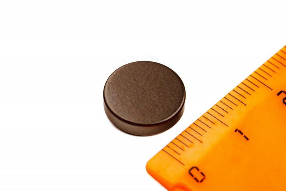 Неодимовый магнит диск 13х3 мм, черный, N33 в Казани