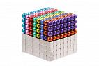 Forceberg Cube - куб из магнитных шариков и кубиков 5 мм, цветной/стальной, 512 элементов