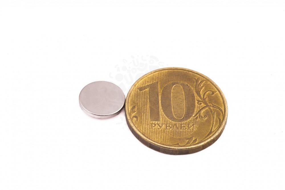 Неодимовый магнит диск 10х1 мм в Казани