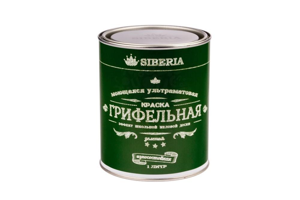 Грифельная краска Siberia 1 литр,зеленый, на 5 м в Санкт-Петербурге