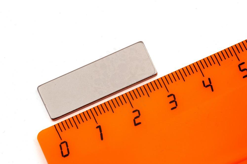 Неодимовый магнит прямоугольник 30х10х2 мм, N35 в Ярославле