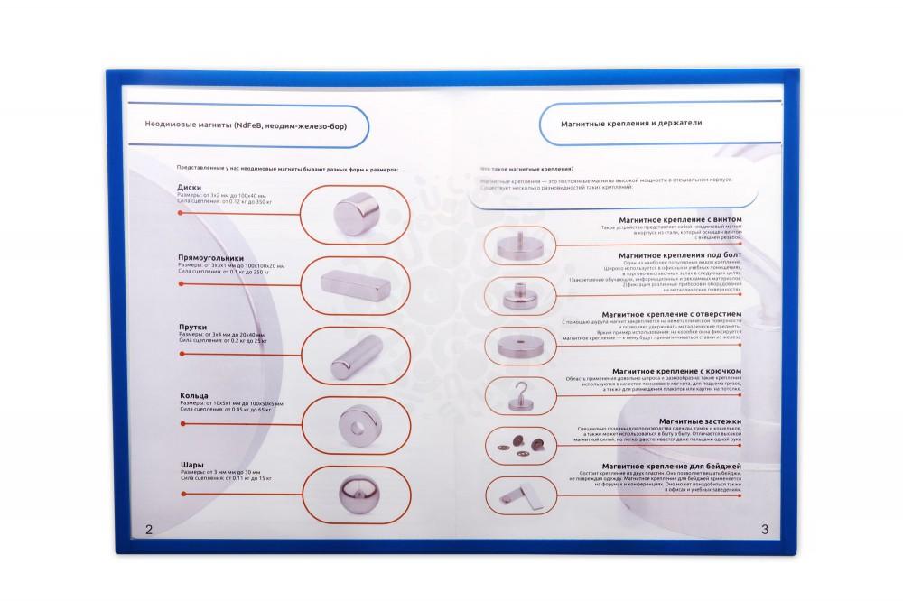 Магнитная слайд-рамка А3 матовая, синяя, 5 шт в Екатеринбурге