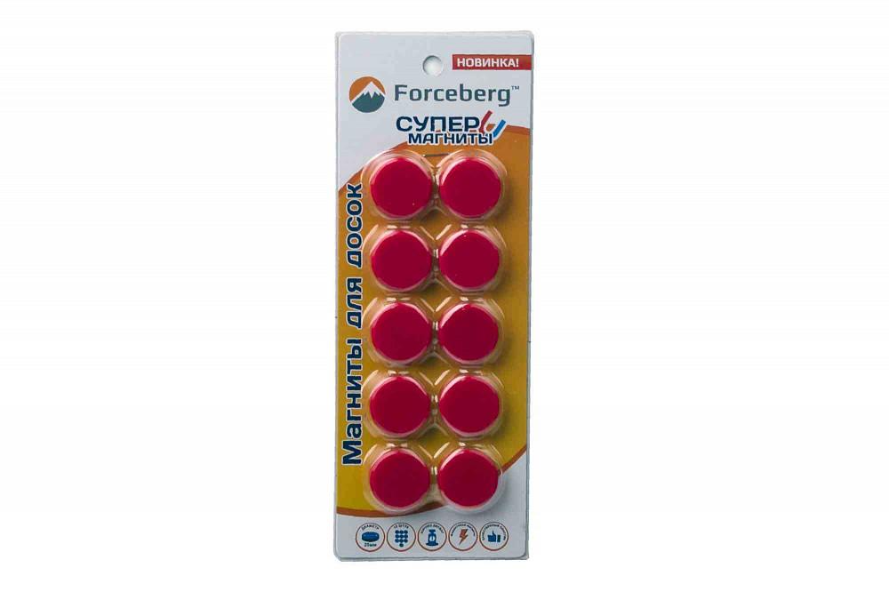Магнит для магнитной доски FORCEBERG 20 мм, красный, 10шт. в Брянске