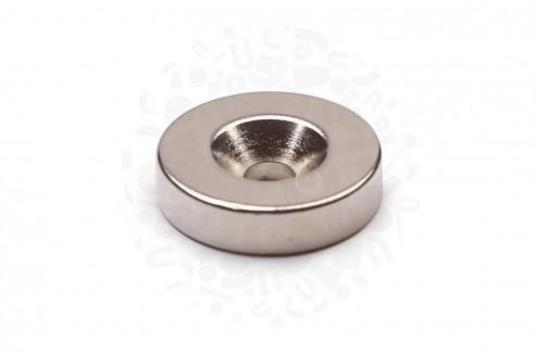 Неодимовый магнит диск 20х5 мм с зенковкой 4.5/10 мм в Волгограде