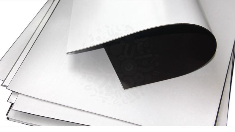 Магнитный винил с клеевым слоем, лист 0.62х1 м, толщина 0.4 мм
