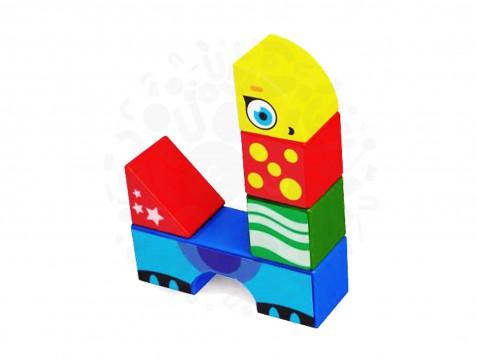 Магнитные детские кубики Magneticus 8 элементов Животные в Волгограде