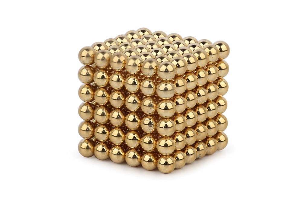 Forceberg Cube - куб из магнитных шариков 6 мм, золотой, 216 элементов в Липецке