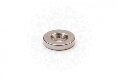 Неодимовый магнит диск 15х3 мм с зенковкой 4.5/7.5 мм в Ростове-на-Дону
