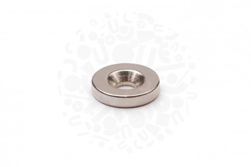 Неодимовый магнит диск 15х3 мм с зенковкой 4.5/7.5 мм в Самаре
