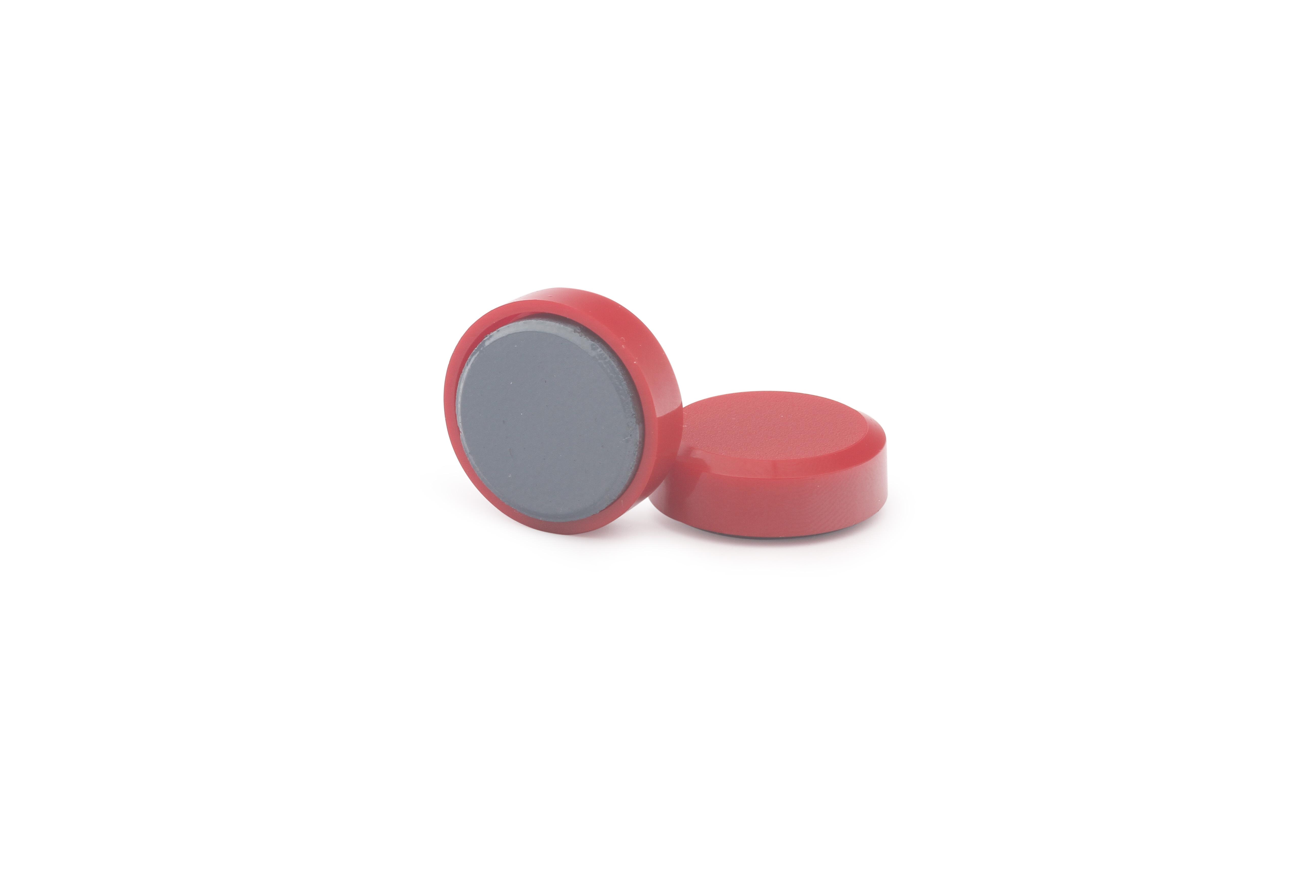 Магнит для досок круглый D20 мм, красный