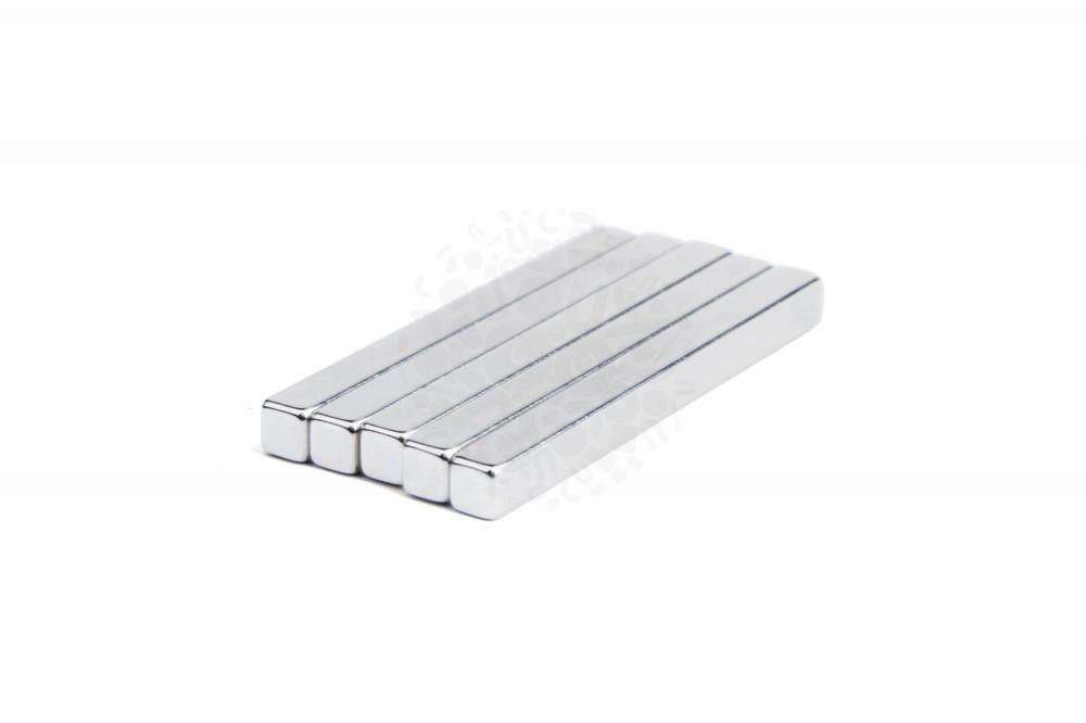 Неодимовый магнит прямоугольник 65х6х6 мм N38H