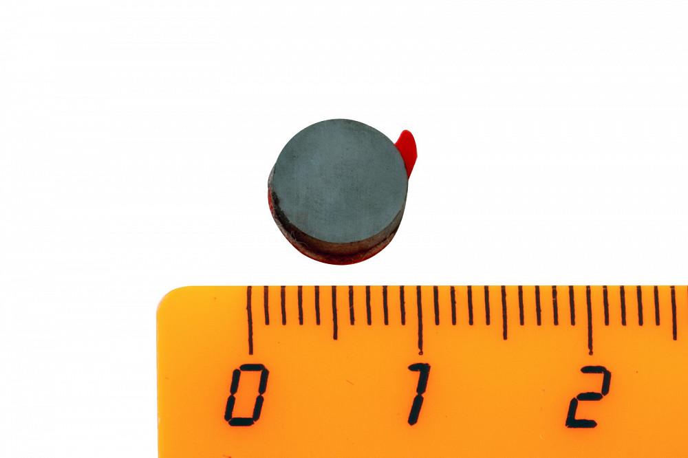 Ферритовый магнит диск 8х2 мм с клеевым слоем, 20 шт, Forceberg в Белгороде