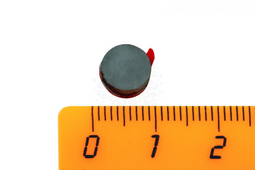 Ферритовый магнит диск 8х2 мм с клеевым слоем, 20 шт, Forceberg в Барнауле