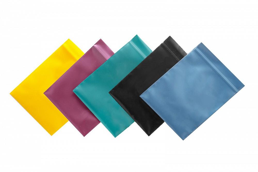 Упаковочные цветные зип пакеты Forceberg HOME & DIY с замком zip-lock 6х7 см, 5 цветов, 100 шт в Саратове