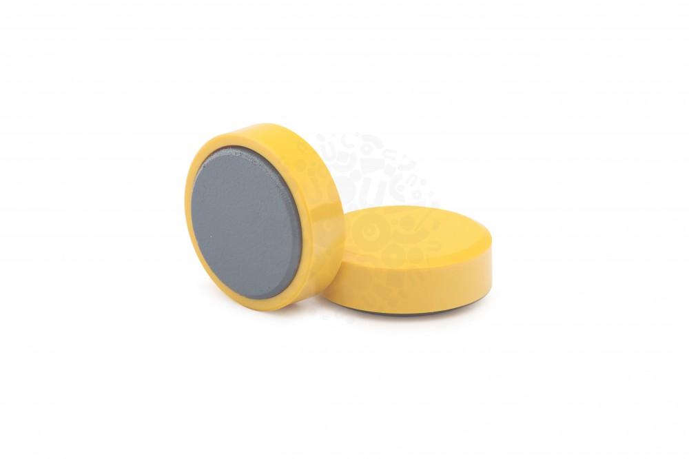 Магнит для досок круглый D30 мм, жёлтый в Москве