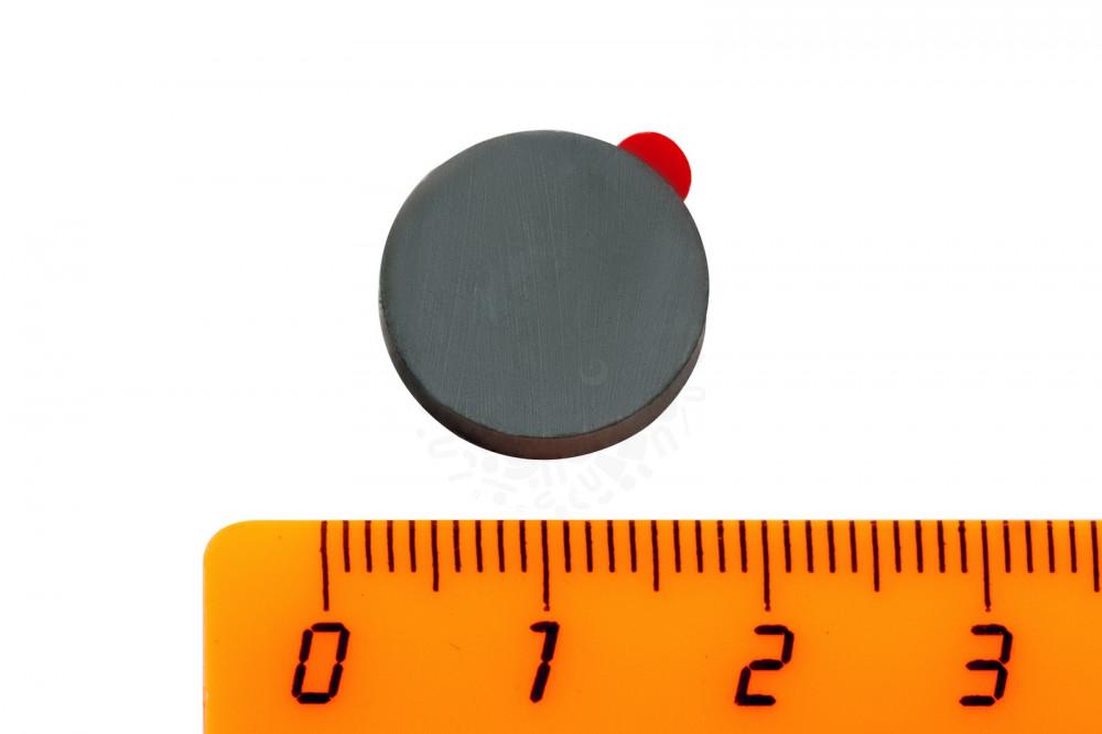 Ферритовый магнит диск 15х3 мм с клеевым слоем, 30 шт, Forceberg в Новосибирске