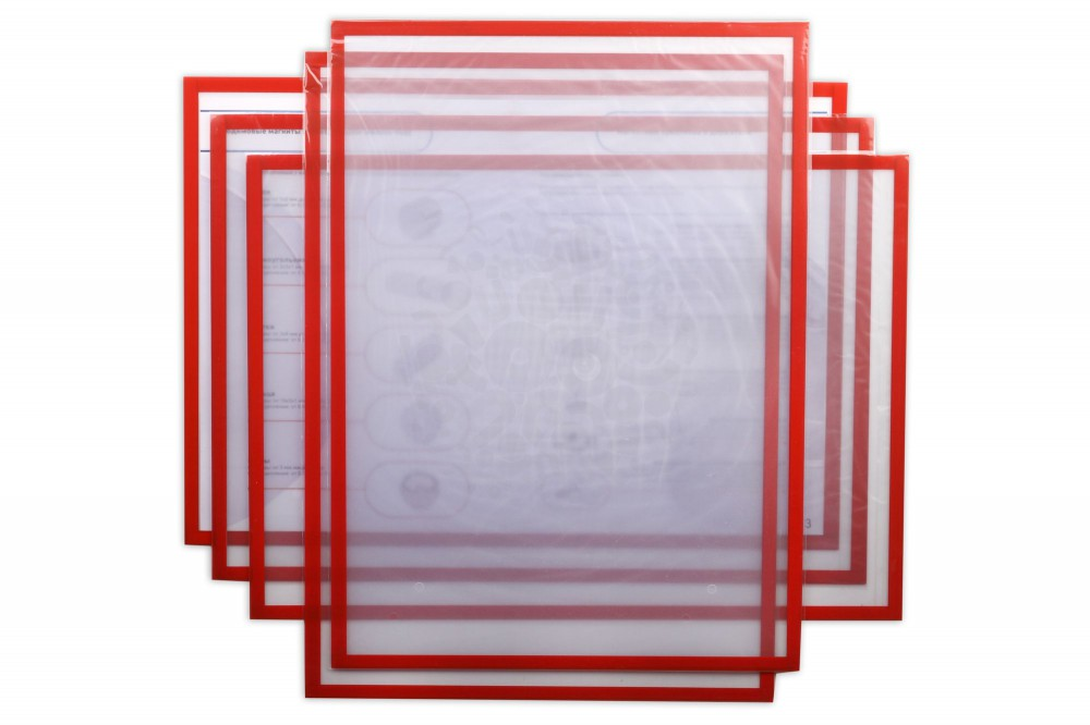 Магнитная слайд-рамка А3 матовая, красная, 5 шт в Ижевске