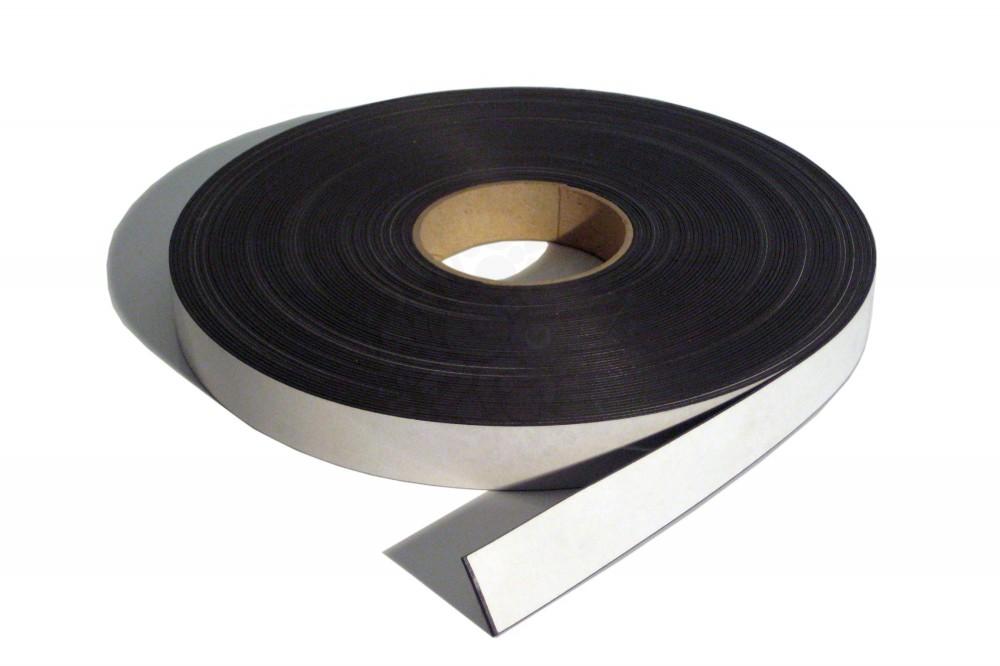 Магнитная лента 25.4 мм, рулон 30 м с клеевым слоем в Курске