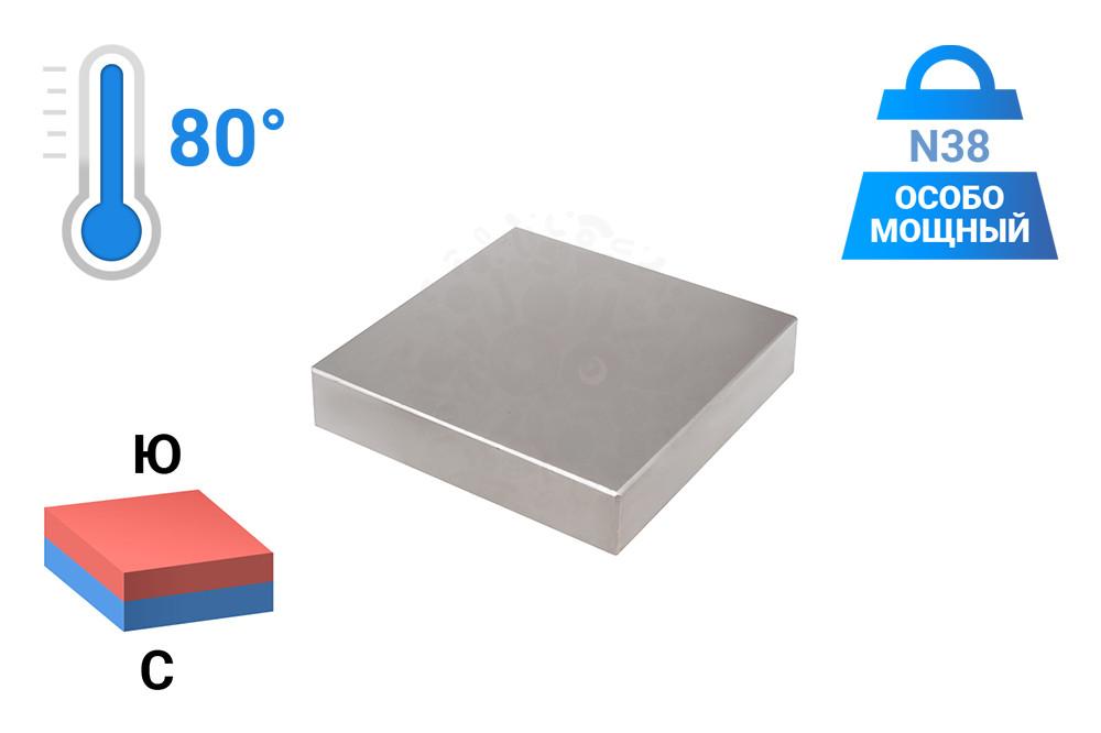 Неодимовый магнит прямоугольник 100х100х20 мм в Иваново