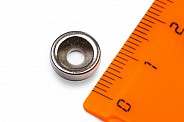 Неодимовый магнит диск 10х3 мм с зенковкой 3.5/7 мм