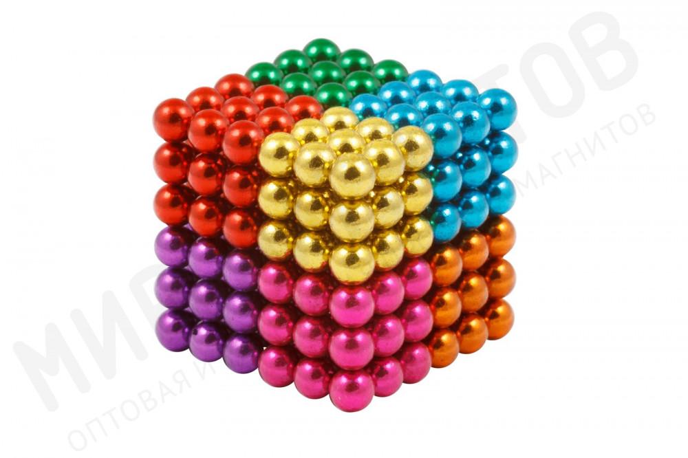 Forceberg Cube - куб из магнитных шариков 5 мм, цветной, 216 элементов, 8 цветов  в Краснодаре