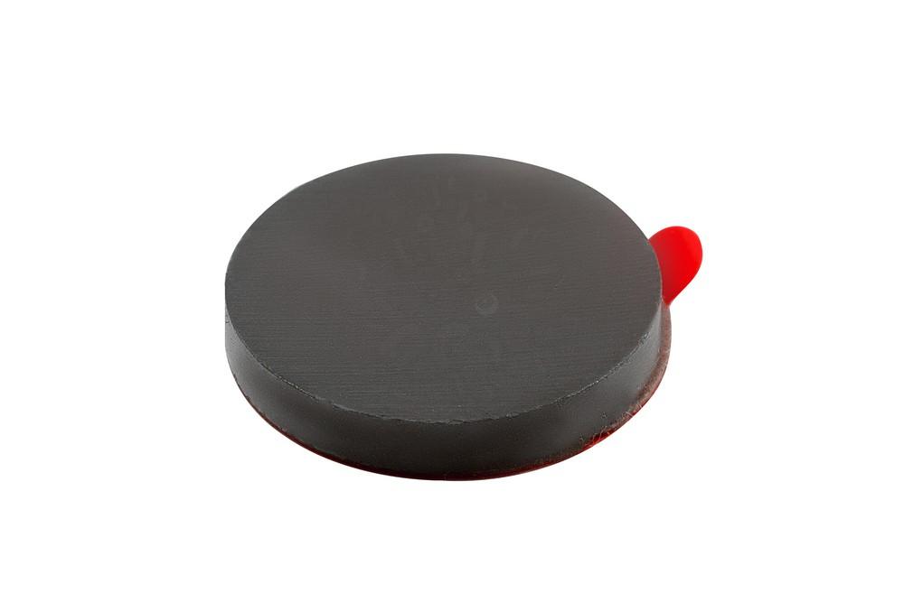 Ферритовый магнит диск 20х3 мм с клеевым слоем в Пензе