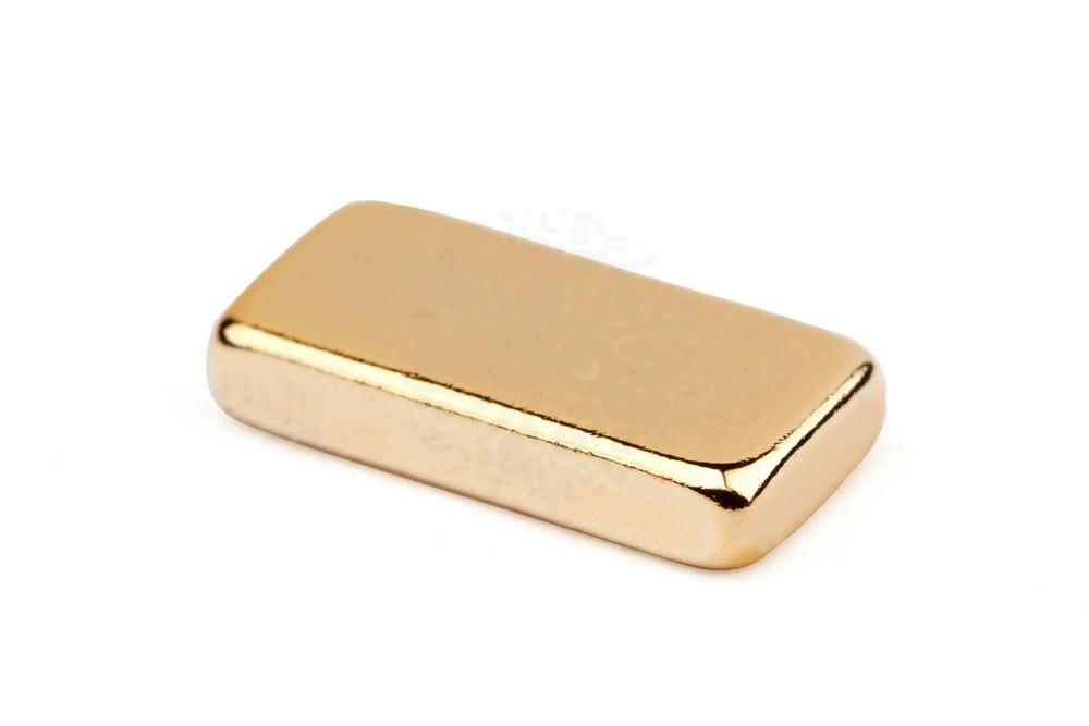 Неодимовый магнит прямоугольник 10х5х2 мм, золотой в Вологде