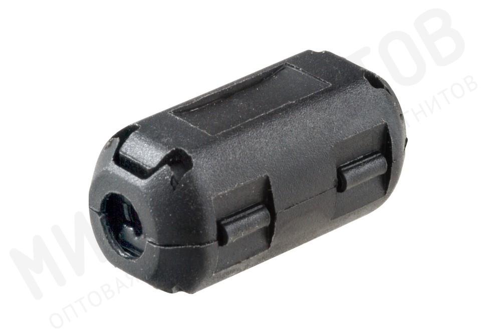 Ферритовый фильтр на кабель с защелкой ZCAT1730-0730A-BK, черный в Подольске