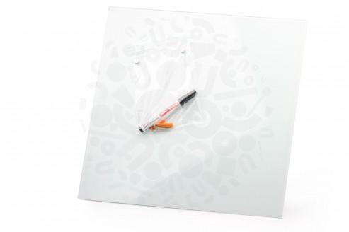 Стеклянная магнитно-маркерная доска Белая Askell 450x450 в Волгограде