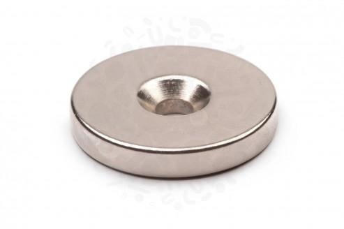 Неодимовый магнит диск 30х5 мм с зенковкой 5.5/10 мм в Ростове-на-Дону